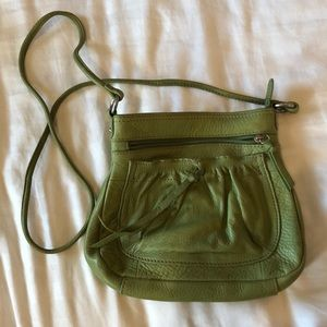 Fossil Avocado green leather purse